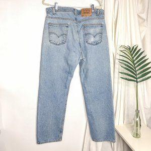 Levis 505 Orange tab Light Wash Straight Leg Jean
